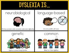 Excellent description of dyslexia.