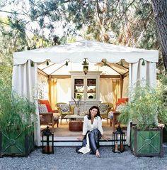 8 Bliss Tips AND Tricks: Canopy Tent Beach backyard canopy gazebo. Outdoor Rooms, Outdoor Living, Outdoor Decor, Tent Living, Living Room, Gazebos, Vignette Design, Garden Canopy, Backyard Canopy