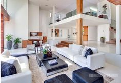 Image result for high ceiling contemporary living room
