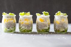 Craving something sweet but want to keep it healthy? This Tropical Chia Pudding is sweetened with maple syrup and delicious mango and Kiwi. Delicious!