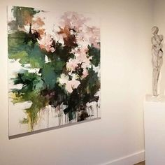 """RePost...............................PryorFineArt —Absolutely loving this work by one of our new artists, Carlos Ramirez 🌿🌸 a perfect statement piece! """"Peonies Along the Garden Wall"""" // 55x45 // ink & acrylic on canvas . #pryorfineart #atlanta #garden #abstractart #abstractlandscape #art #painting #gallerywall #artist #buckhead #contemporaryart #modernart #interiordesign #interiors #peonies #flowers #color #carlosramirez"""