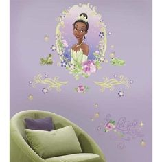 New Princess And The Frog Medallion Wall Decals Tiana Stickers Girls Room Decor