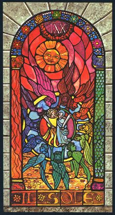 The Sun - Stained-Glass Windows Tarot by Luigi Scapini