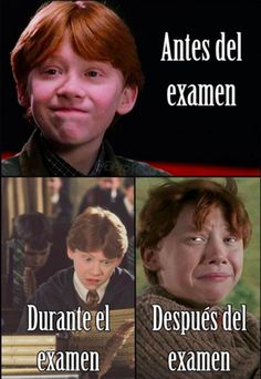 Una chiste de un examen! Ron esta joven en… A joke of an exam! He has Ron Weasley for Harry Potter. Ron is young in … – Funny Spanish Memes, Spanish Humor, Spanish Class, Cartoon Meme, Funny Images, Funny Pictures, Real Life, Harry Potter Quotes, Harry Potter Ron Weasley