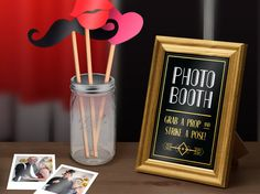 HEY THERE!  Our 1920s Printable Black and Gold Foil Photobooth Sign is perfect for a Roaring good time snapping pics at your 1920s Theme Party including; A New Years Eve Bash or 30th Birthday Party! It can be easily printed using a standard desktop printer on 8.5 x 11 (letter size) paper, or can be printed at your local print shop such as Staples or Kinkos. Your purchase includes easy assembly instructions, and a high-quality printable PDF file.  Please note: This listing is for a DIGITAL…