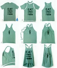 diy workout tank. doing this to my way-too-big tshirts!
