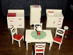 "Complete Kitchen Set Vintage Renwal Dollhouse Furniture 3 4"" Fits Marx Ideal 
