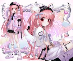 Emo Princess, Art Mignon, Cybergoth, Cute Icons, Look At You, Funny Art, Anime Style, Aesthetic Anime, Cute Art