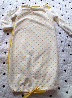 handmade strawberry baby gown
