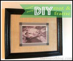 DIY burlap mat for black and white photos