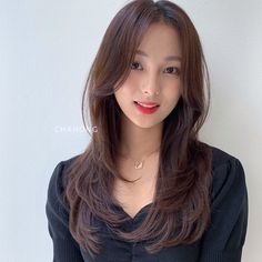 Korean Long Hair, Korean Hair Color, Asian Short Hair, Asian Hair, Korean Haircut Long, Haircuts Straight Hair, Haircuts For Medium Hair, Long Hair Cuts, Medium Hair Styles