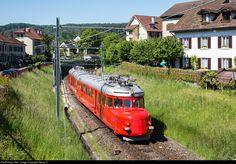 "Churchill Arrow"" RAe 4/8 # 1021 of the SBB on a round trip between Winterthur Töss and Winterthur, bound for Rapperswil via Bauma."