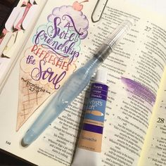 Spent the evening with 3 lovely friends journaling talking laughing and eating. Their friendship certainly reminds me of this verse. Just as lotions and fragrance give sensual delight a sweet friendship refreshes the soul. Proverbs 27:9 MSG #letteryourfaith #biblejournaling #bible #bibleverses #biblestudy #biblejournalingcommunity #proverbs31 #titus2 #bibleart by letteryourfaith