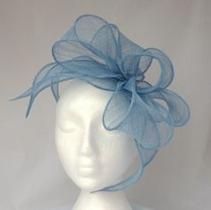 ELLIE - Pale Blue Fascinator Hat Headpiece Hatinator for Weddings cd805150052
