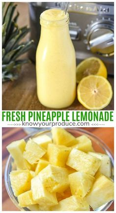 Refreshing Pineapple Looking for a delicious new Lemonade Recipe? Try our Pineapple Lemonade Recipe. Making homemade lemonade, simple! Juice Smoothie, Smoothie Drinks, Healthy Smoothies, Healthy Drinks, Healthy Blender Recipes, Healthy Lemonade, Lemon Smoothie, Nutrition Drinks, Vitamix Recipes