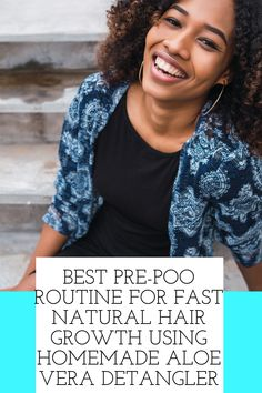 Best Pre-Poo Routine For Fast Natural Hair Growth Using Homemade Aloe Vera Detangler Grow Natural Hair Faster, Natural Hair Growth, Natural Hair Styles, African American Hairstyles, Hair Videos, Aloe Vera, Routine, Homemade, Home Made