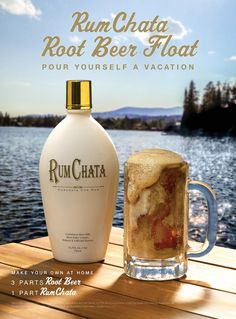 Pour Yourself a Vacation - RUMCHATA ROOT BEER FLOAT: 1 part RumChata, 3 parts A&W Root Beer