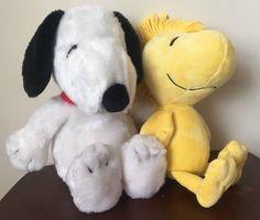 "Snoopy Woodstock Peanuts Gang Plush Lot Khols Cares Yellow Bird Dog 12""   Toys & Hobbies, TV, Movie & Character Toys, Peanuts Gang   eBay!"
