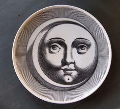 Piero Fornasetti moon sun plate (pillow)