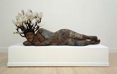 """Compton Nocturne"", 1999, Alison Saar, American (b. 1956), wood, tin, bottles, paint and tar, 33 x 80 x 28 in. Benefactors Fund, 1999. 1999.38"