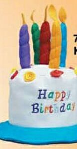 Kid's Felt Happy Birthday Cake Novelty Hat
