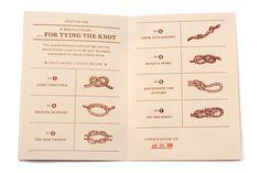 bakers twine wedding inspiration wedding programs 550x366 Inspiration: Bakers Twine