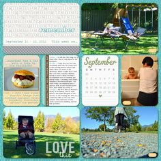 love the idea of using a calendar 3x4 card and circling the week we're on instead of the weekly date card as a 4x6.     Crazy Lovely Madhouse: Project Life : Week 38