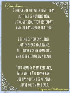 loss of grandma quotes - Google Search