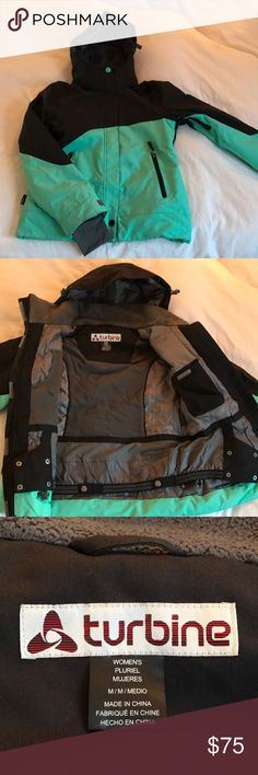Women's M Turbine Comet Snowboarding/Ski Jacket 2016-2017 Women's Medium Snowboard/Ski Jacket. Purchased in Mammoth last season. slim Fit, flattering, many pockets and stow aways, very warm but also has the armpit vents you can open, powder skirt. Turbine Jackets & Coats