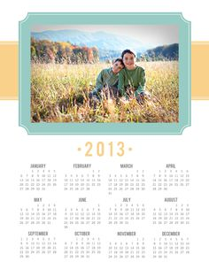 A Well-Feathered Nest: FREE 2013 Printable One-Year Calendar