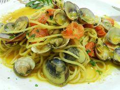 Spaghetti di mare allo zafferano