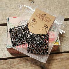 Brand New Earrings Vintage - Look Black Earrings by Plunder Plunder Jewelry Earrings