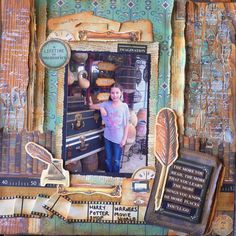 """Created for kaisercraft using """"StoryBook"""" paper collection. Scrapbooking Layouts, Scrapbook Pages, Rustic Colors, Library Card, Some Cards, Any Book, Clear Stamps, One Pic, Mini"""