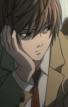 Looking for information on the anime or manga character Light Yagami? On MyAnimeList you can learn more about their role in the anime and manga industry. Death Note デスノート, Death Note Fanart, Death Note Light, Anime Guys, Manga Anime, Anime Art, Shinigami, Death Note Quotes, Lit Wallpaper