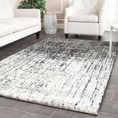 Safavieh Retro Modern Abstract Black/ Grey Rug (6' Square) (RET2770-9079-6SQ), Size 6'