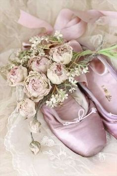 pink shouse and pink fabric rose Grey Wedding Decor, Wedding Decorations, Homecoming Decorations, Pointe Shoes, Ballet Shoes, Ballerina Shoes, Toe Shoes, Just Girly Things, Gray Weddings