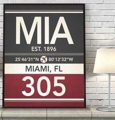 Miami Florida MIA 305 786 Vintage Airport Area Code Map Coordinates Subway Art Print, UNFRAMED, Customized Colors, Christmas - Housewarming gift home decor poster, ALL SIZES. What a great way to celebrate where you live or love visiting with this vintage art print. This also makes a great housewarming gift for that special someone. With the map coordinates, establishing date, airport code, area code and CUSTOMIZED colors, this print is a perfect piece of wall decor. Simply use the side...