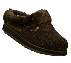 A cozy pair of BOBS at Home Shoes #SKECHERSGiveThanksPinToWin