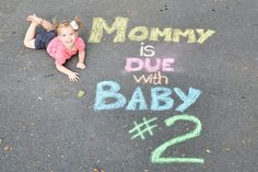 baby announcement, baby number two, mommy is due with baby #2, pregnancy announcement
