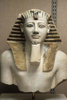 Upper part of a statue of Thutmose III 18th Dynasty, New Kingdom
