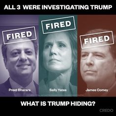 Trump's obstruction of justice.