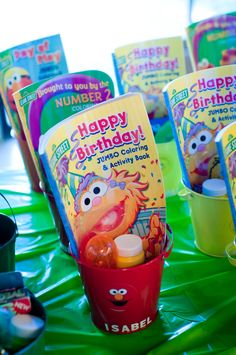 We recently celebrated my son's birthday in Dallas and I went a little crazy planning it! Monster Birthday Parties, Elmo Birthday, Baby First Birthday, First Birthday Parties, Birthday Party Themes, First Birthdays, Birthday Ideas, Sesame Street Birthday Party Ideas, Elmo Party Favors