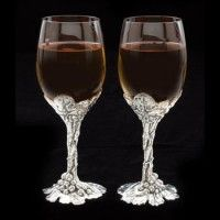 Arthur Court Grape Wine Glass Set of 2