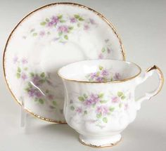Malandi Footed Cup & Saucer Set by Paragon Bone Crafts, China Patterns, Cup And Saucer Set, Tea Pots, Pottery, Tableware, Tea Time, Dinnerware, Vases