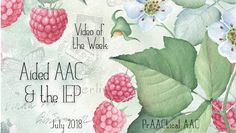 Video of the Week: Aided AAC and the IEP
