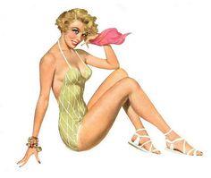 Classic Pin-Up Artists Stocking Glamour, Pin Up Girl Vintage, Vintage Style, Irish Girls, Calendar Girls, Sexy, Voluptuous Women, Pin Up Art, Pin Up Girls