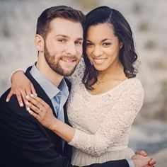 Colin & Raquel ♡ Beautiful newly married interracial couple #love #wmbw #bwwm #swirl