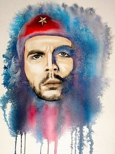 Che Guevara.watercolor by P.J.Fields Wallpaper Photo Hd, Neon Wallpaper, Che Guevara Photos, Pawan Kalyan Wallpapers, Potrait Painting, Ernesto Che Guevara, Lord Ganesha Paintings, Shiva Lord Wallpapers, Galaxy Pictures