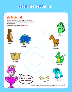 Letters leren met Bobo   Bekijk en Print jouw favoriete Werkblad Free Preschool, Preschool Worksheets, Letter D, 4 Kids, Activities For Kids, Homeschool, Spelling, Teaching, Comics