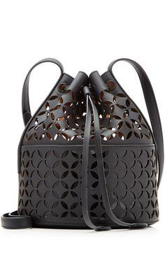 ALAÏA Perforated Leather Shoulder Bag. #alaïa #bags #shoulder bags #hand bags #leather #
